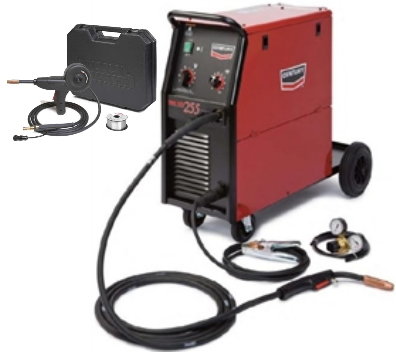 Century Lincoln K2783 1s Wire Feed 255 Mig Welder With Bonus Spool Gun 1370 73 Free Shipping Norris Equipment Company